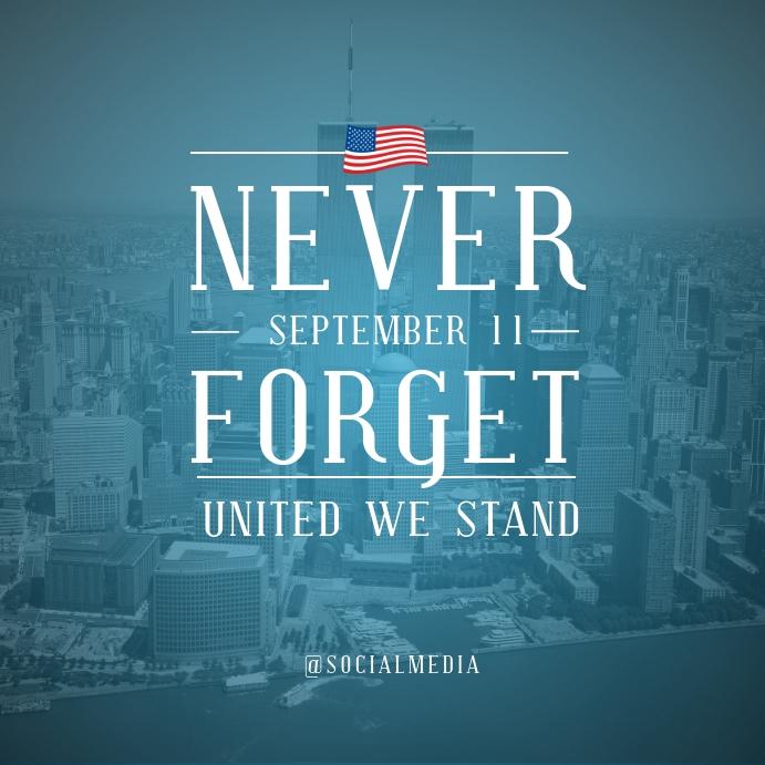 911 Memorial Flyer Template Instagram na Post