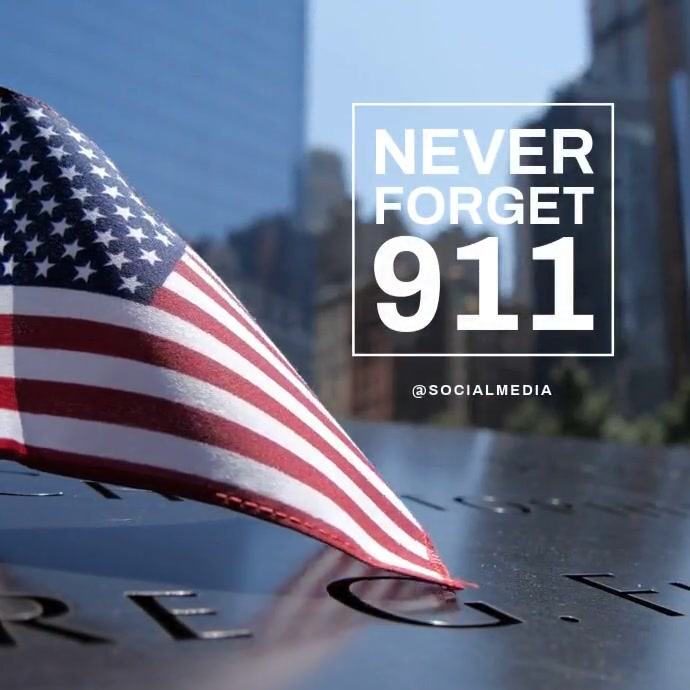 911 Memorial Flyer Video Template Instagram Plasing