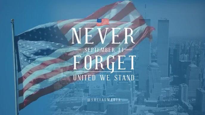 911 Memorial Video Flyer Template