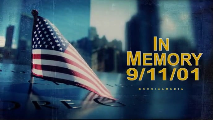 911 Memorial Video Template Facebook-omslagvideo (16:9)