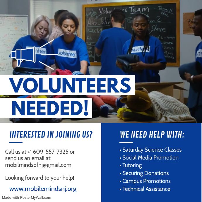 Volunteer with MMNJ Cuadrado (1:1) template