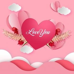 Valentines Day Card Publicação no Instagram template
