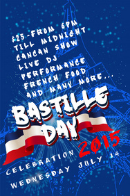 Bastille Day Flyer Templates