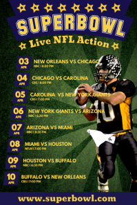 photograph about New York Giants Printable Schedule called Customise 39,250+ Timetable Templates PosterMyWall