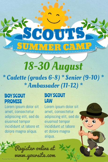 Scouts Summer Camp Poster Template