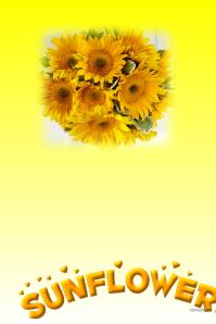 Sunflowers customizable postet