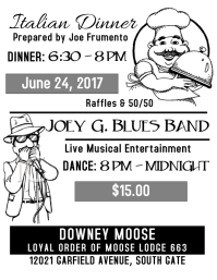 6-24-17 Blues Band & Dinner