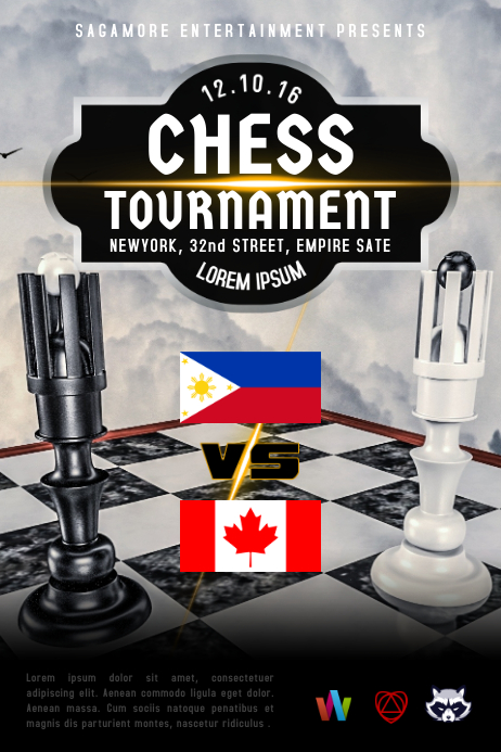 Customizable design templates for contest postermywall chess tournament poster template yelopaper Images