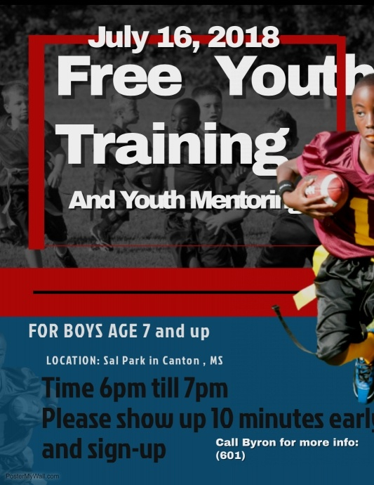 copy of flag football flyer templates postermywall
