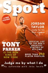 Sports Magazine Cover Template