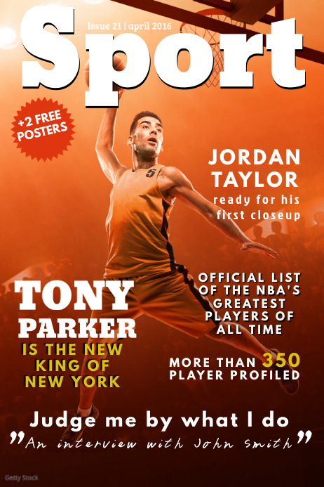 Sports Magazine Cover Template Postermywall