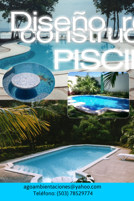 Pool design template postermywall for Pool design templates