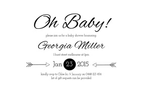 Modern Baby Shower Invite