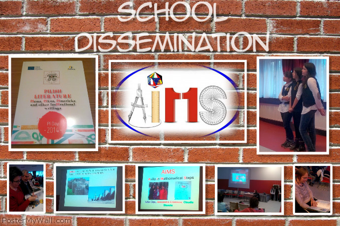 School Dissemination Plakat template