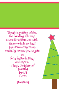 Christmas Tree Party Celebration Invitation Flyer