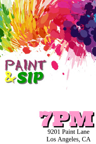 Customizable Design Templates for Sip And Paint | PosterMyWall