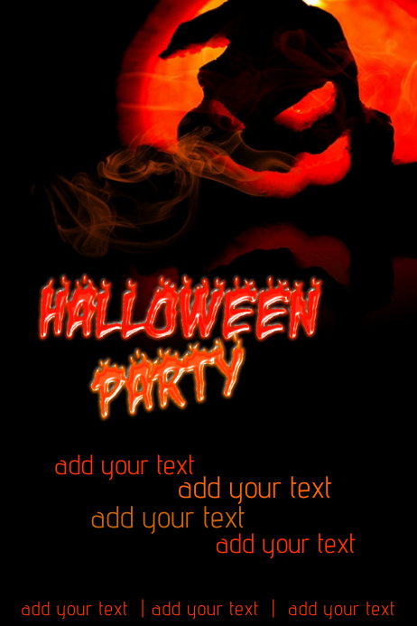 halloween party event ghost creepy flyer invitation