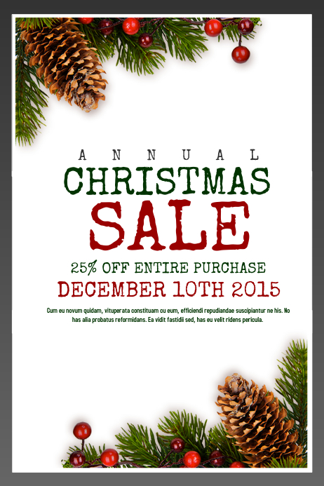 Annual Christmas Sale 海报 template