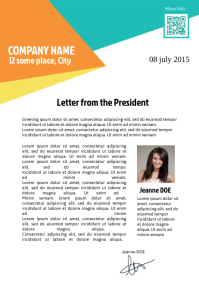Letter template - Great for greeting and announcement