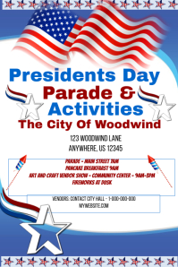 Presidents Day Parade & Activies Event Template