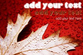 Thanksgiving Autumn Fall Halloween Event Poster Flyer