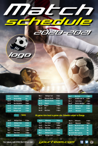 Football team schedule