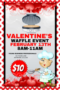 Valentine's Waffle Event Template