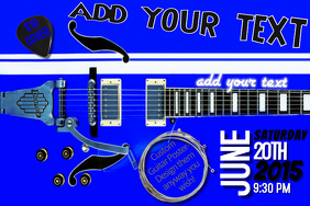 Music Store Musical Instruments Guitar Accessories Sale Discount Clearance Ad Flyer Poster Coupon