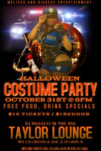 Customizable Design Templates For Halloween Bar Party Flyer - Halloween costume party flyer