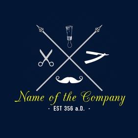 A Barber Shop Logo โลโก้ template