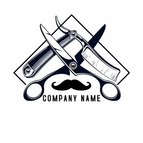 A barber shop logo