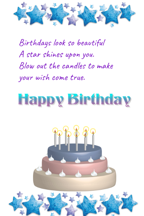 A Birthday Card For Her Template Postermywall