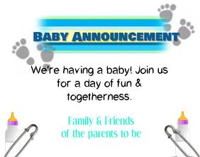 A Bundle Of Joy Baby Announcement