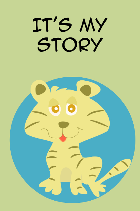 A Cat Story book cover design