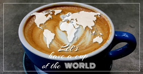 A cup of the World Iklan Facebook template