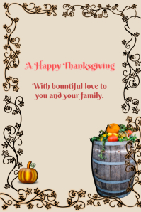 A Happy Thanksgiving
