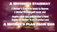 A Mother's Stairway to Heaven Video Digitale display (16:9) template