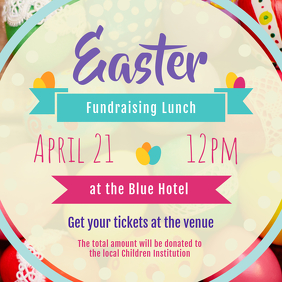 Easter Fundraiser Event Instagram Image template