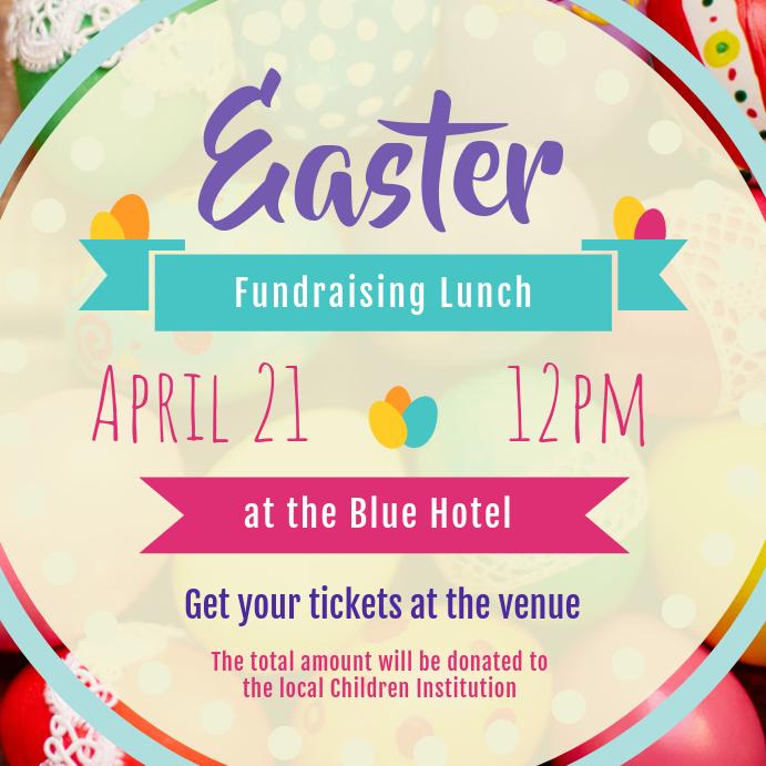 Easter Fundraiser Event Instagram Image template