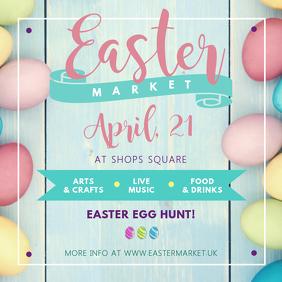 Easter Market Ad Instagram Image template