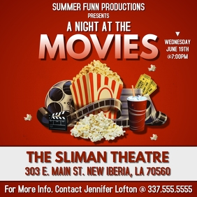 A NIGHT AT THE MOVIES FLYER TEMPLATE