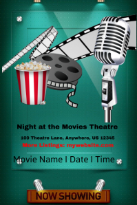 A Night at The Movies Template
