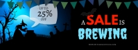 A Sale Is Brewing Halloween Facebook Cover Facebook-omslagfoto template