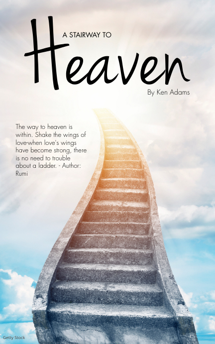 A Stairway to Heaven Book Cover Template Portada de Kindle