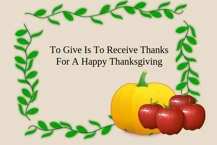 A Thankful Thanksgiving Card Poster template