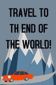 A travel poster customization
