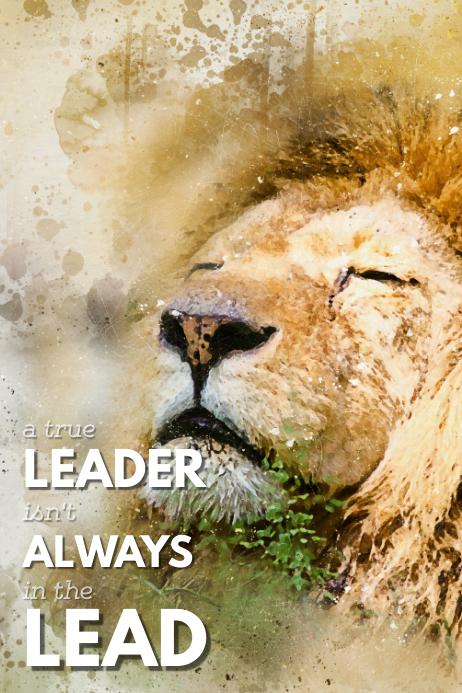 a true leader isn't always in the lead