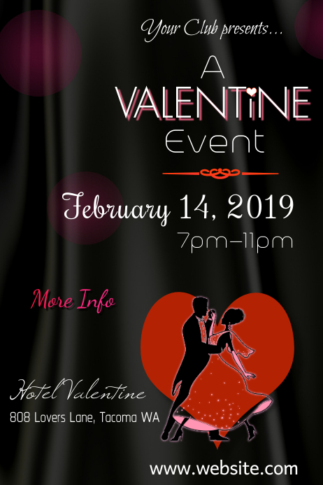A Valentine Event Poster Template