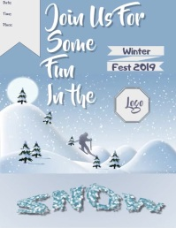 A Winter Festival or Event Flyer