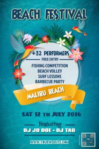 Beach festival poster